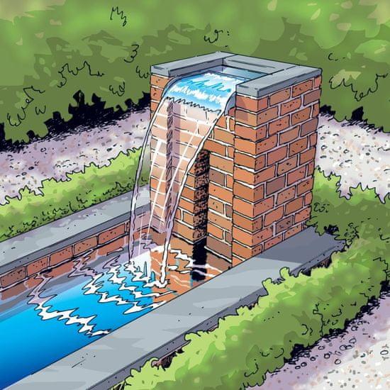 Greatstore Ubbink Nevada vodni slap 30 cm iz nerjavečega jekla kaskada
