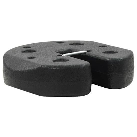 shumee Závažie na altánok 4 ks čierne 220x30 mm betónové