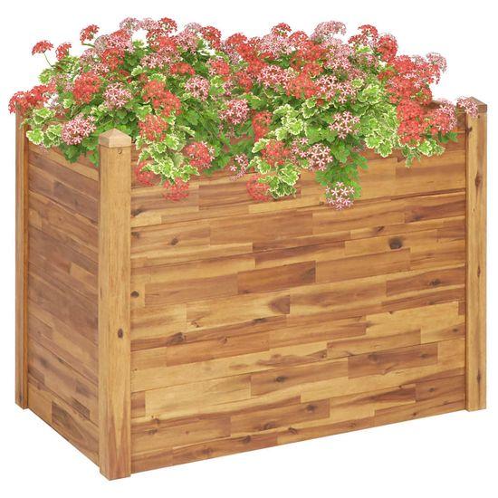 shumee Vyvýšený záhradný záhon 110x60x84 cm, akáciový masív