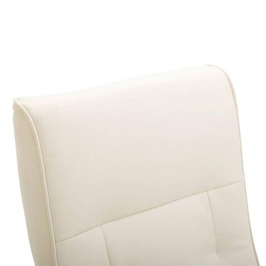 Greatstore Masážne kreslo, krémovo biele, umelá koža