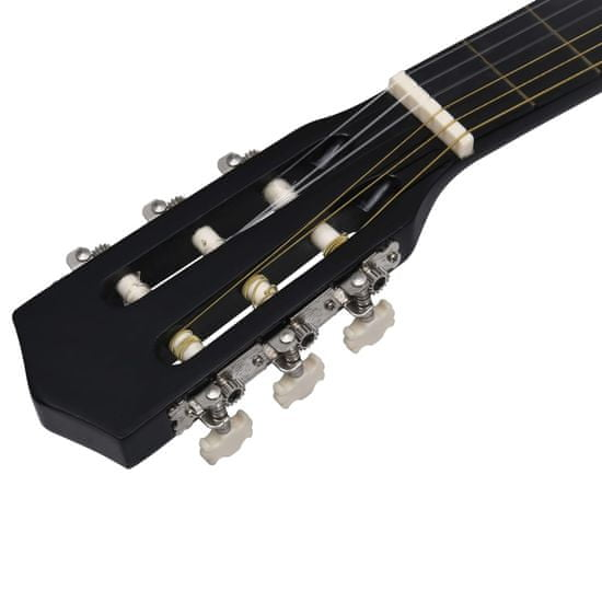 Greatstore 8dílný set klasická kytara pro začátečníky černá 1/2 34''