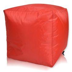 PrimaBag Taburet Cubes nylon 40x40 cm červená