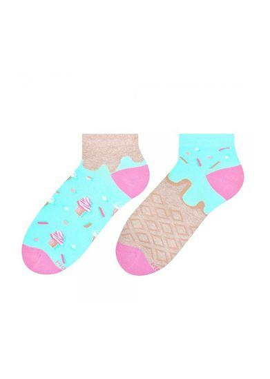 More Asymetrické dámské ponožky More 034 světle zelená 39-42