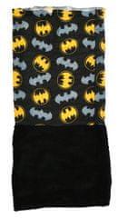 "Eplusm Detský zateplený nákrčník ""Batman"" - 24x56cm - čierna / žltá"