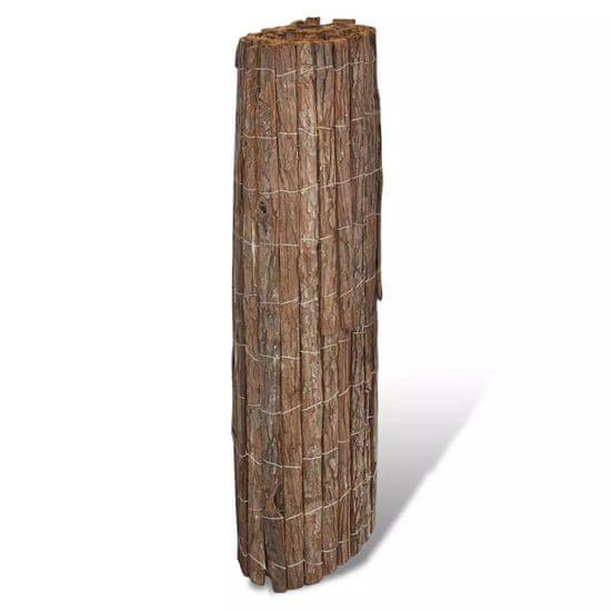shumee Ogrodzenie z kory, 400 x 100 cm