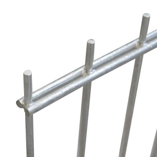 shumee Panele ogrodzeniowe 2D, 2,008 x 2,03 m, 12 m, srebrne