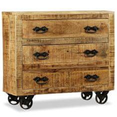 shumee Komoda s 3 zásuvkami, surové mangové drevo