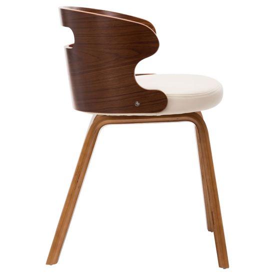 shumee Jedálenské stoličky 6 ks krémové ohýbané drevo a umelá koža