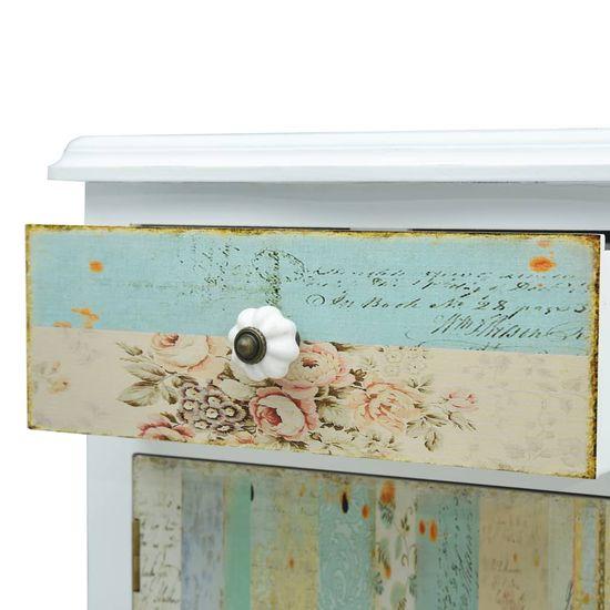shumee Nočný stolík biely 40x30x62 cm MDF