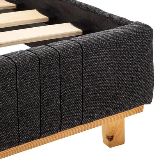 shumee Rama łóżka, ciemnoszara, tapicerowana tkaniną, 100 x 200 cm
