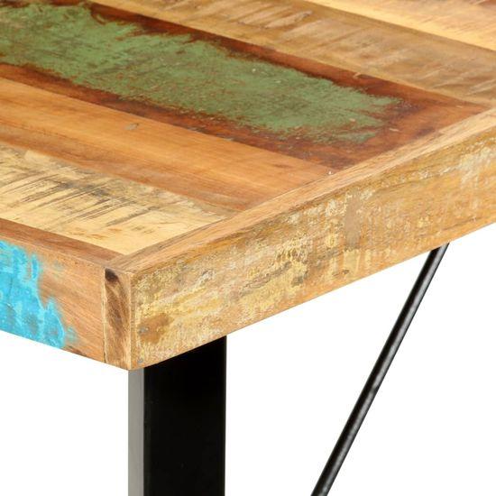 shumee Stolik barowy, 180x70x107 cm, lite drewno z odzysku