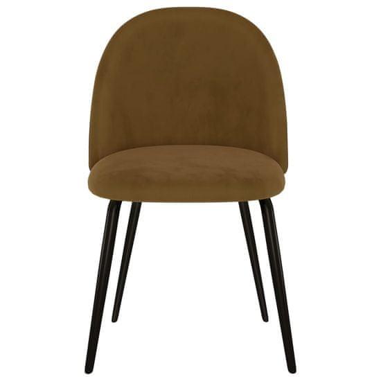 shumee Jedálenské stoličky 4 ks, hnedé, látka