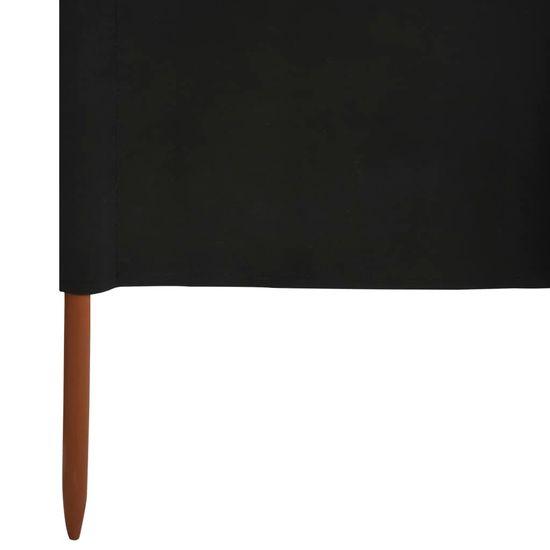 shumee fekete 5 paneles szövet szélfogó 600 x 160 cm