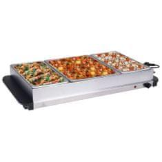 Bufetový ohřívač nerezová ocel 400 W 2 x 2,5 l + 1 x 4 l