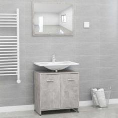 Greatstore Set koupelnového nábytku betonově šedý dřevotříska