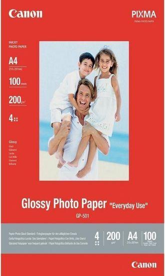 Canon Foto papier GP-501, A4, 100 ks, 200g/m2, lesklý (0775B001)