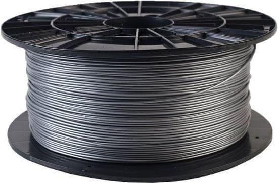 Plasty Mladeč tisková struna (filament), PLA, 1,75mm, 1kg (F175PLA_SI), strieborná