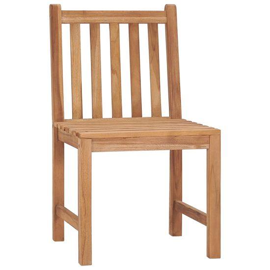 shumee Krzesła ogrodowe z poduszkami, 8 szt., lite drewno tekowe