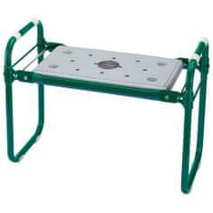 shumee Draper Tools Skládací zahradní stolička / klekátko železo zelená 64970