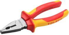 Tolsen Tools Kliešte kombinované elektrikárske 180 mm VDE/GS cert, PREMIUM, TOLSEN