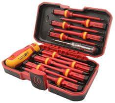 Tolsen Tools Sada elektrikárskych skrutkovačov s vymen.rúčkou, 13 dielna VDE/GS certifikát, TOLSEN