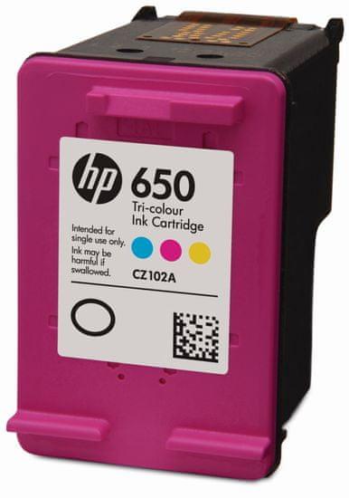 HP 650 CZ102AE, színes tintapatron