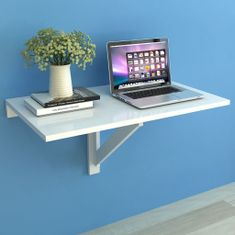 shumee Sklápěcí nástěnný stůl bílý 100 x 60 cm