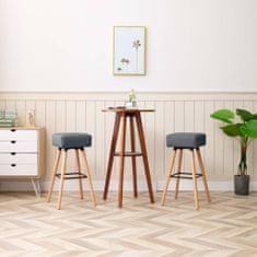 Barové židle 2 ks světle šedé textil