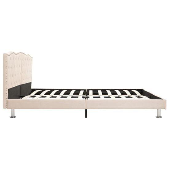 shumee bézs szövet ágykeret 160 x 200 cm