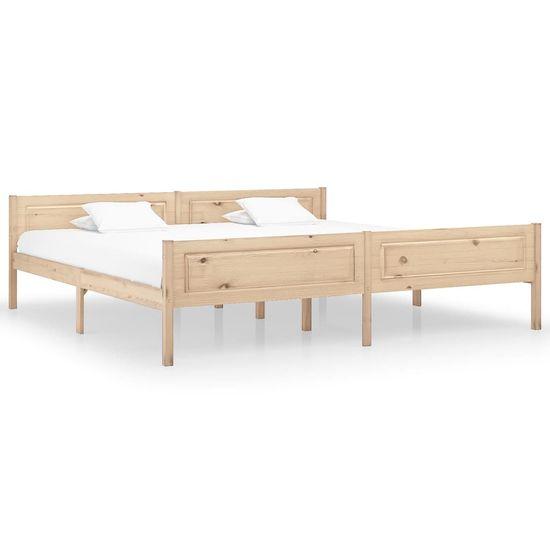 shumee Rama łóżka z litego drewna sosnowego, 200 x 200 cm