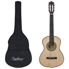 Greatstore 8dílný set klasická kytara pro začátečníky a děti 1/2 34''