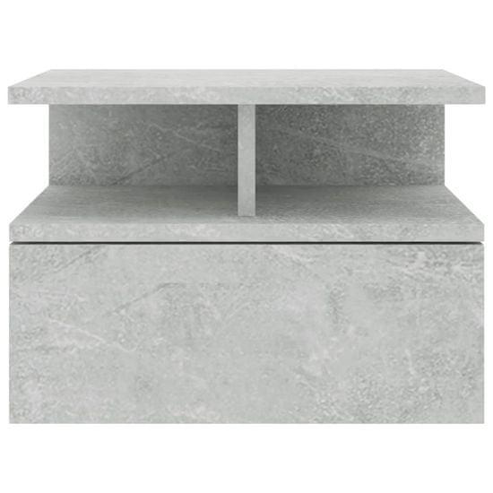 shumee Stenske nočne omarice 2 kosa betonsko sive 40x31x27 cm