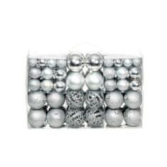 shumee Sada vánočních baněk 100 kusů 6 cm stříbrná