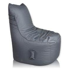 PrimaBag Sedací vak Seat nylon tmavě šedá