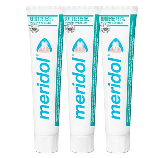 Meridol Zubná pasta proti zápalu ďasien Tripack 3 x 75 ml