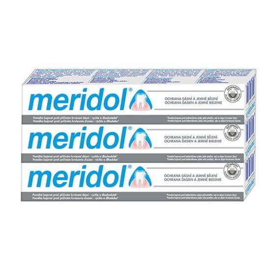 Meridol Zubná pasta s bieliacim účinkom (Gentle White) Tripack 3 x 75 ml