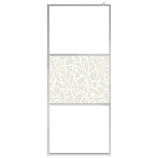 shumee Ścianka prysznicowa, szkło ESG, wzór w kamienie, 100 x 195 cm