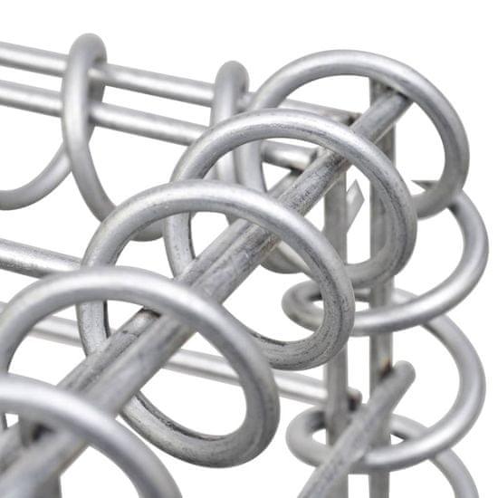 shumee horganyzott acél gabion fal fedéllel 900 x 30 x 150 cm