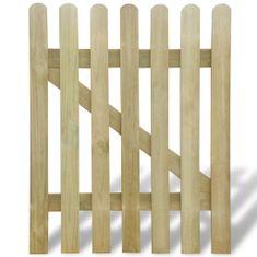 shumee Zahradní branka dřevo 100 x 120 cm