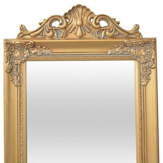 shumee Samostatne stojace zrkadlo, barokový štýl, 160x40cm, zlatá farba