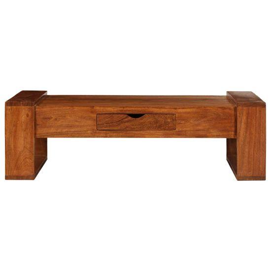 shumee Konferenčný stolík z akáciového dreva 100x50x30 cm hnedý