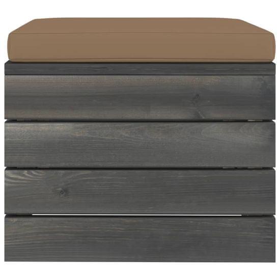 shumee Ogrodowe stołki z palet, 2 szt., z poduszkami, drewno sosnowe