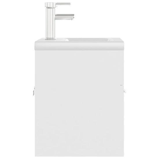 shumee Szafka z wbudowaną umywalką, biała, płyta wiórowa