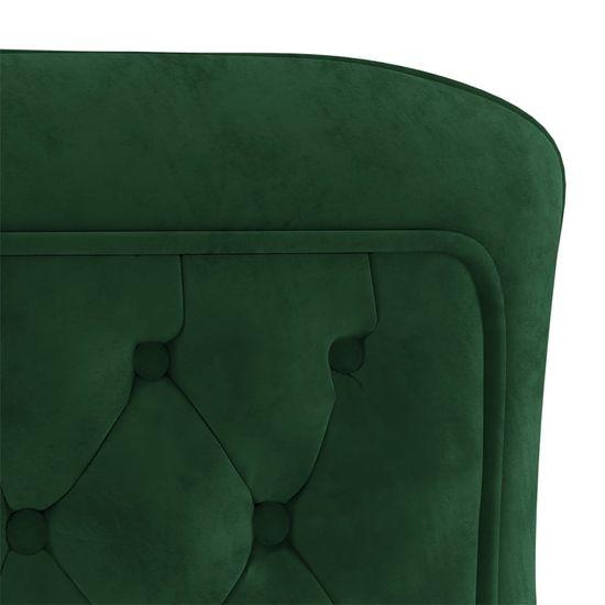 shumee Jedálenské stoličky 4 ks Zelená 53x52x98 cm zamat a oceľ