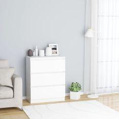 Greatstore Komoda, biela 60x35x76 cm, drevotrieska