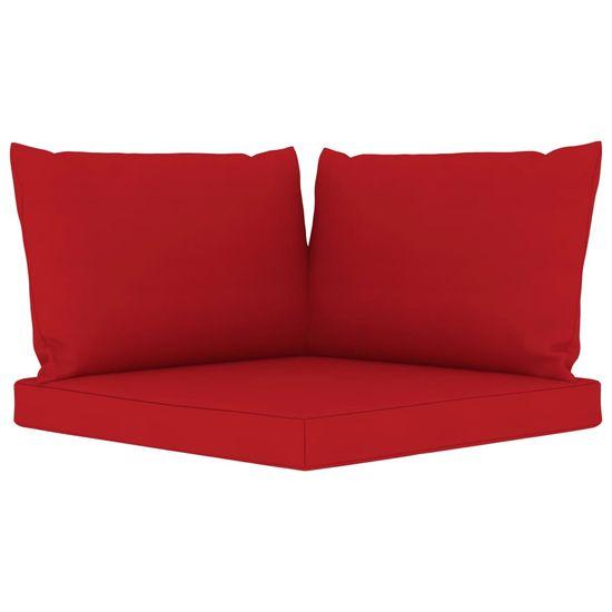 shumee 5 részes kerti ülőgarnitúra piros párnákkal