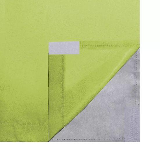 Greatstore Zatemňovací záves, 2 ks, dvojvrstvový, 140x175 cm, zelený