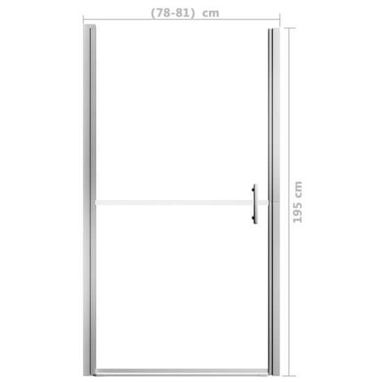 shumee Sprchové dvere tvrdené sklo 81x195 cm