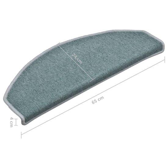 Greatstore Preproge za stopnice 15 kosov modre 65x24x4 cm