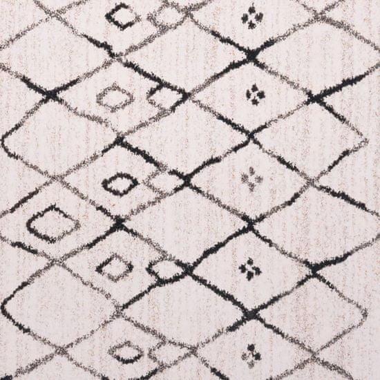 Greatstore Potiskana preproga večbarvna 160x230 cm tkanina